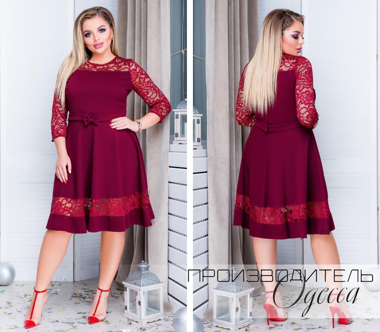 Красивое платье батал Gippi