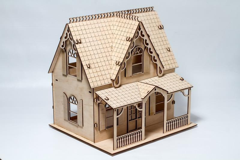 """Развивающий деревянный 3D пазл """"Домик № 004"""" (оригинальная сборная объемная модель из дерева)"""