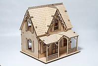 """Развивающий деревянный 3D пазл """"Домик № 004"""" (оригинальная сборная объемная модель из дерева), фото 1"""