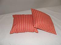 Подушка красная в полосочку 30х30, фото 1