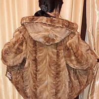 Норковая шуба полушубок с капюшоном в Харькове 46-48 размер натуральная норка обмен