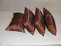 Комплект подушек тафта коричневая 4шт
