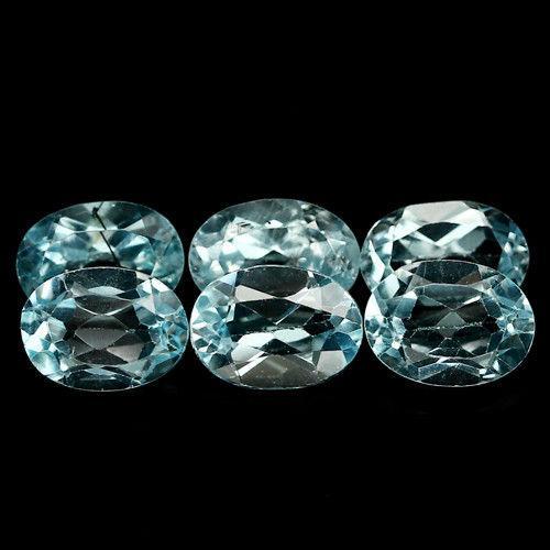 Натуральний топаз блакитний 5x7 mm