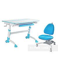Комплект растущая парта Volare Blue + детское ортопедическое кресло SST4 Blue FunDesk, фото 1