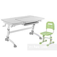 Комплект подростковая парта Amare Grey + детский стул SST3L Green FunDesk , фото 1