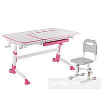 Комплект подростковая парта Amare Pink + детский стул SST3L Grey FunDesk , фото 1