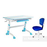 Комплект растущая парта Volare Blue + детский стул LST6 Blue FunDesk, фото 1
