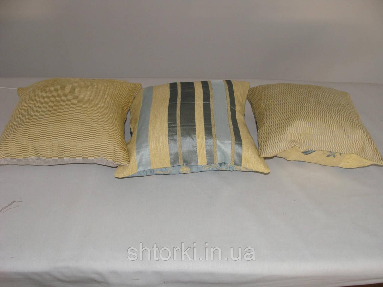Комплект подушек желто-голубые 3шт