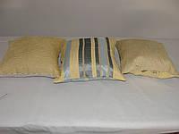 Комплект подушек желто-голубые 3шт, фото 1