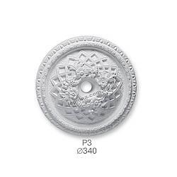 Розетка потолочная из гипса р-3 Ø340