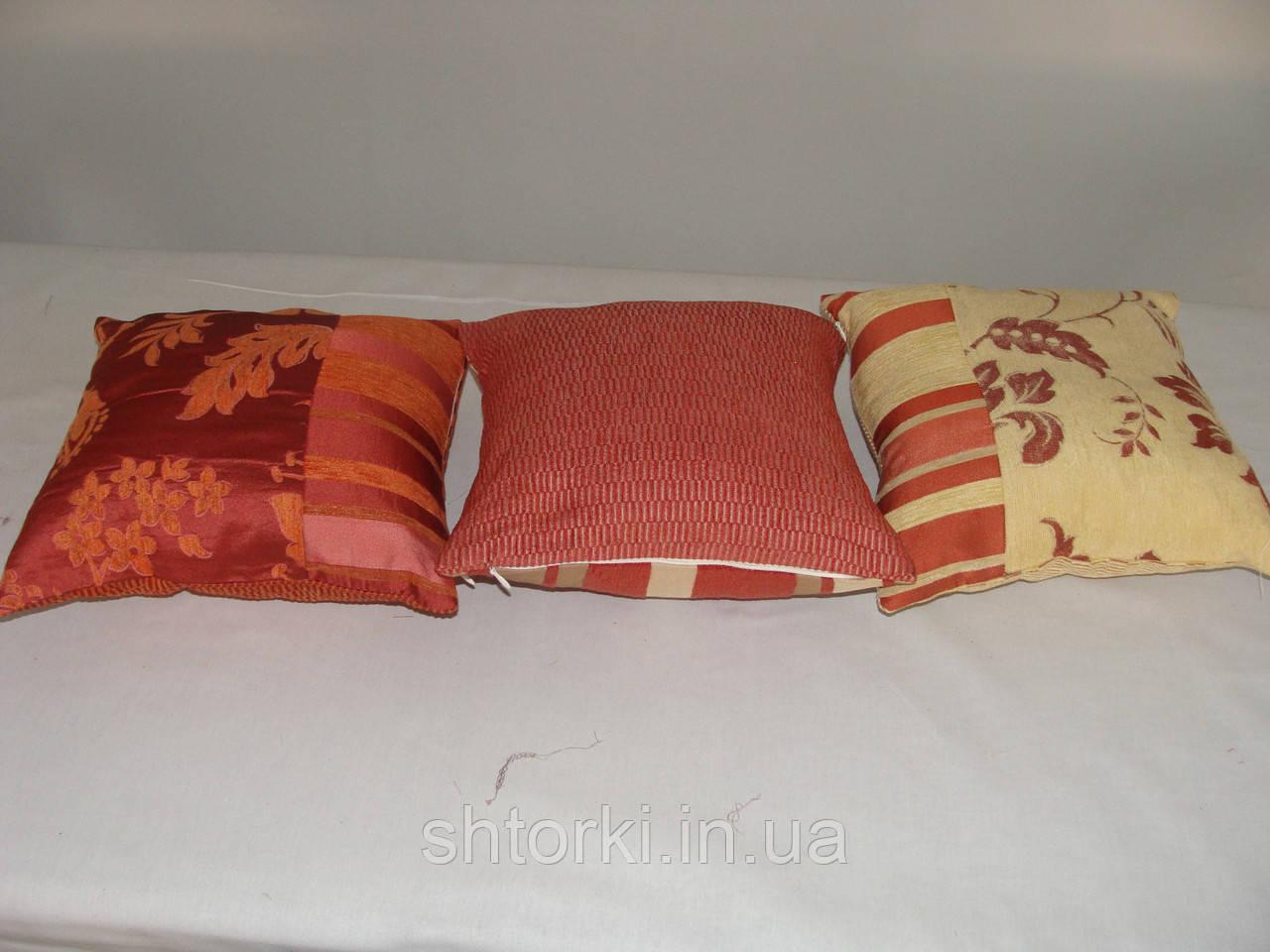 Комплект подушек  красн, 3шт