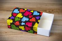 Коробка для 115*155*50 для 12 макаронс Разноцветные сердца (Упаковка 3 шт.)