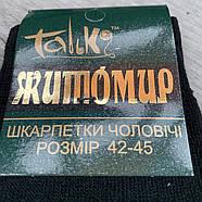 Шкарпетки чоловічі махрові х/б з вовною Талько, Житомир, 42-45 розмір, чорні,1573, фото 4