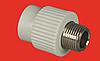 Муфта 90х3 с наружной металлической резьбой FV-PLAST