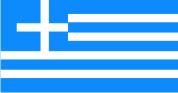 Флаг Греции 0,9х1,35 м. материал для уличного применения флажная сетка