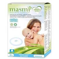 Masmi. Органические гигиенические прокладки для груди, 30 шт. (000394)