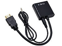 Перехідник-конвертер HDMI на VGA + audio вихід