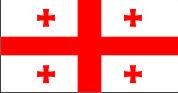 Флаг Грузии 0,9х1,35 м. атлас