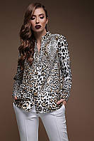 GLEM Леопард блуза Эльвира д/р