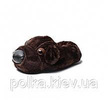 Домашние тапочки Собака Dark Brown