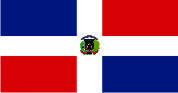 Флаг Доминиканской Республики 0,9х1,45 м. материал для уличного применения флажная сетка