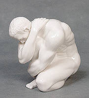 """Фарфоровая статуэтка """"Атлет"""" (Глазурь) WS-110/ 2"""