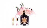 Аромакомпозиция Cote Noire Букет лилии и розы  айвори в черной вазе (5 цветков)