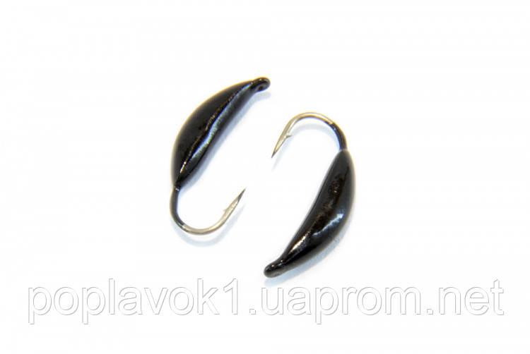 Мормышка вольфрамовая Банан крашеный (Черный) 3мм