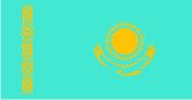 Флаг Казахстана 0,9х1,8 м. материал для уличнго применения флажная сетка
