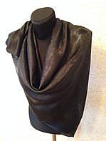 Женский черный атласный платок №65 (цв.200)