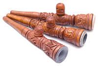 Трубка Інкрустована Дерев'яна Розбірна Чилім з Каменем