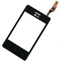 Тачскрин сенсор для LG T370, T375 Optimus L3 черный