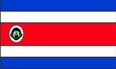 Флаг Коста-Рики 0,9х1,5 м. атлас