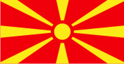 Флаг Македонии 0,9х1,8 м. атлас
