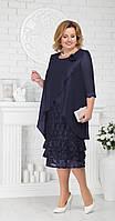 Платье Ninele-7210/1 белорусский трикотаж, темно-синий, 54
