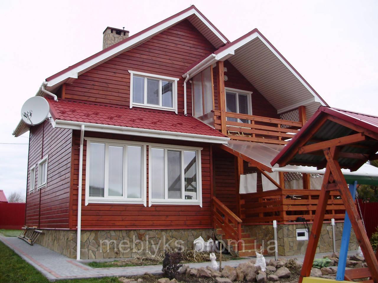 Дом деревянный коттедж №3 - Меблюкс в Львовской области