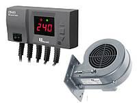 Комплект автоматики для твердотопливного котла Kg Elektronik CS-20+DP-02