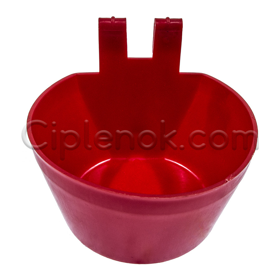 Чашечная поилка круглая навесная для клетки