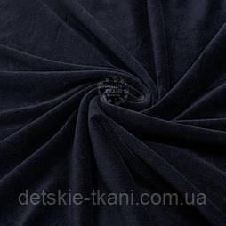 Однотонный ХБ велюр чёрного цвета