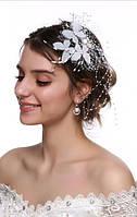 Дизайнерская женская шляпка на свадьбу А-1113