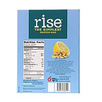 Rise Bar, Простой протеиновый батончик, лимон и кешью, 12 батончиков, 2,1 унц. (60 г) каждый