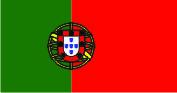 Флаг Португалии 0,9х1,35 м. атлас