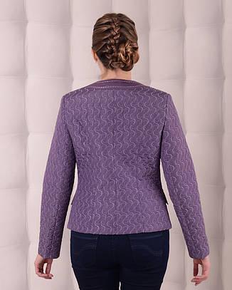 Куртка-жакет женская демисезонная 3597, размер 46-58, фото 2