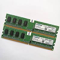 Оперативная память Crucial DDR2 2Gb (1Gb+1Gb) 800MHz PC2 6400U CL6 (CT12864AA800.M8FE) Б/У, фото 1