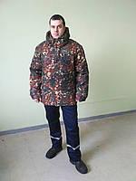 Зимова куртка з капюшоном на флісі