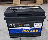 Автомобильный аккумулятор INCI AKU 60Ah,L, EN 540, Работаем с НДС