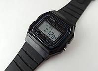Мужские часы в стиле CASIO - мультифункциональные, черный цвет