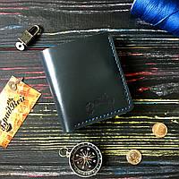 Портмоне с прозрачными отделениями и карманом для мелочи синее