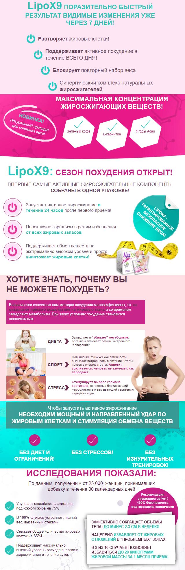 LipoX9 для похудения в Архангельске