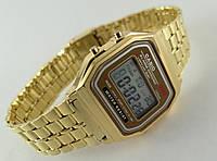 Мужские часы в стиле CASIO - мультифункциональные, gold, золотистый цвет